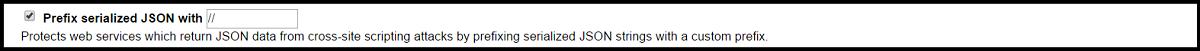 Prefix serialized JSON with