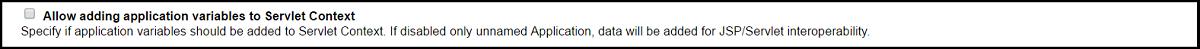 Allow adding application variables to Servlet Context