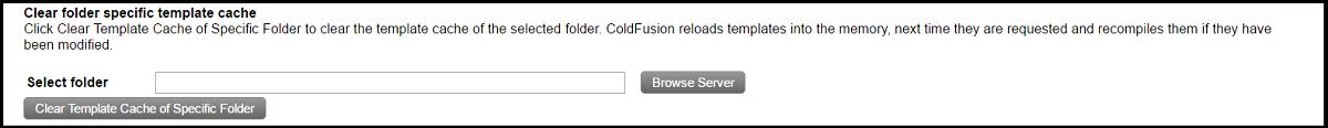 Clear folder cache