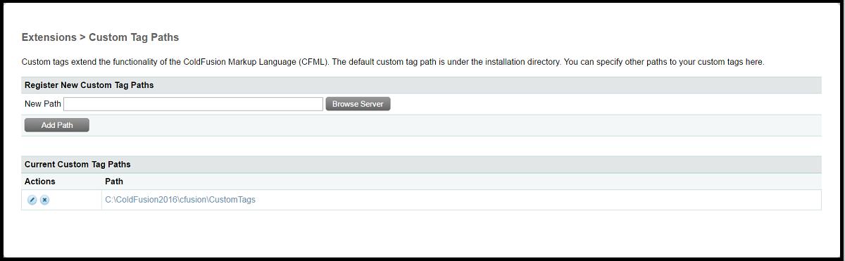 ColdFusion Custom Tags