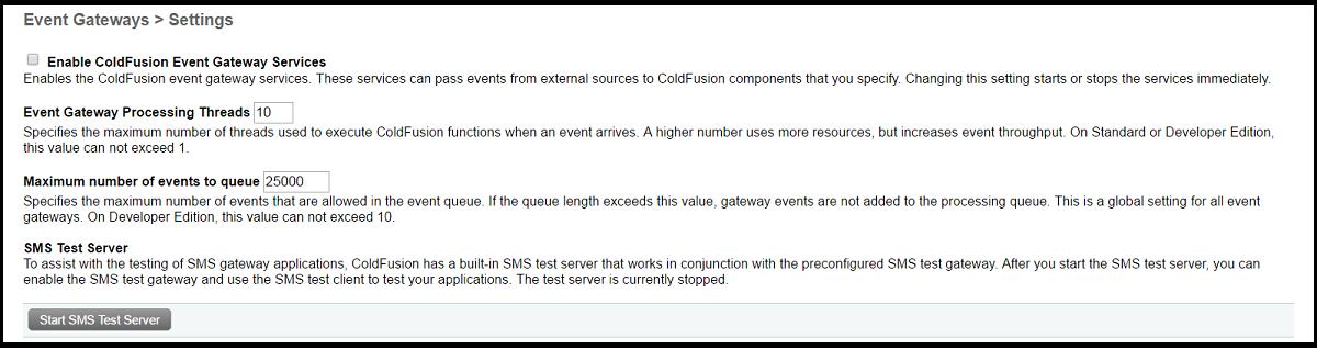 ColdFusion Event Gateways