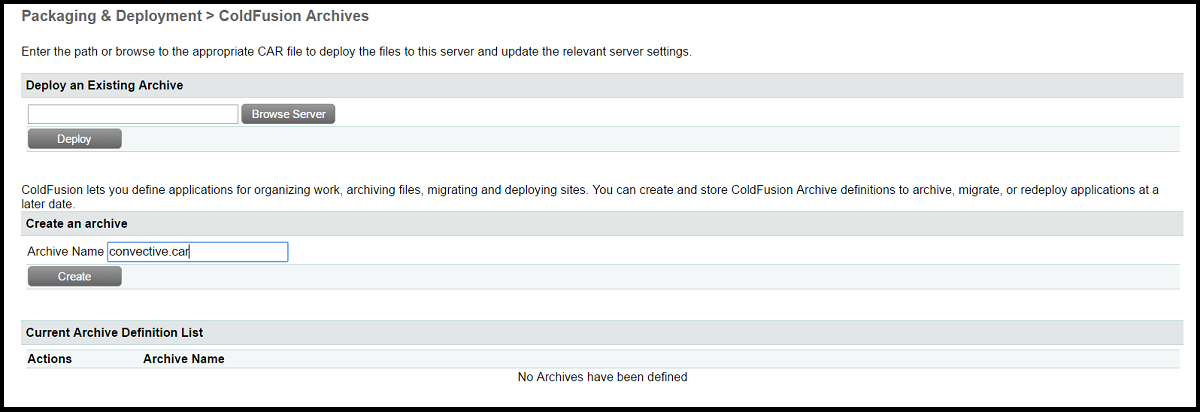 ColdFusion Archives
