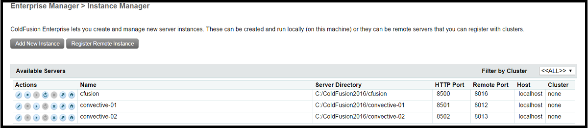ColdFusion Multiple Instances